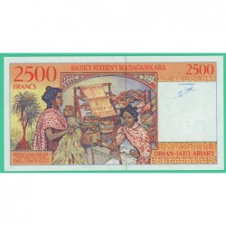 2500 Francs - Ariary -...